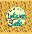autumn sale banner with nature pattern vector image
