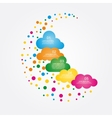 Banner design template with clouds vector image