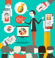 Businessman on Conference or Meeting with Ce vector image
