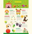 circus infographics set vector image