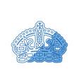 queen crown symbol vector image