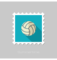 Volleyball flat stamp Summer Vacation vector image