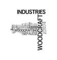 woodcraft industries wooden bridges from the past vector image