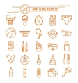Baby Clinic Linear Icons Set vector image