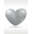 Metallic heart vector image vector image