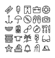 Summer and Travel Icons 5 vector image