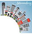 Johannesburg Skyline with Gray Buildings vector image