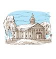 Russian Orthodox church vector image