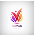 human logo group of people colorful icon vector image