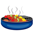 Barbeques cooked above the barbeque grill vector image vector image