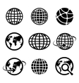 icon globes vector image