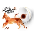 Poster wild coffee dog vector image vector image