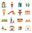 Kindergarten Icons Set vector image