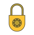Padlock Flat color icon lock Object of safety vector image