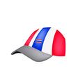 A Baseball Cap of Thai Flag on White Background vector image