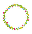 cute thin spring floral wreath with berries and vector image