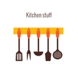 Flat concept for cooking vector image