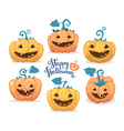 halloween of collection decorative orange an vector image