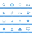Set of social icons in flat style isolated on vector image