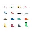 Flat Color Woman Shoes Set vector image