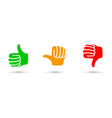 thumbs up down set vector image vector image