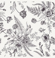 seamless floral pattern with spring flowers vector image vector image