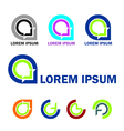 Abstract business logo and icon set vector image