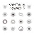Vintage sunburst Hipster style vector image