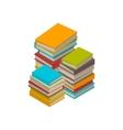 Big set of books tutorials Isometric flat vector image