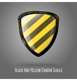 Blank yellow and black caution realistic glossy vector image