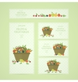 Business banners with fruits and vegetables vector image