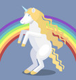 cartoon unicorn and rainbow vector image