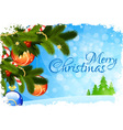 Grungy Christmas Greeting Card vector image