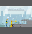 industrial internet of things vector image