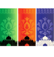 Islamic mosques vector image