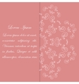 Pink card design with ornate floral pattern vector image