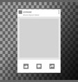 social network photo frame template vector image