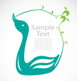 The design of the swans vector image