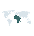 world map africa vector image
