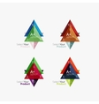 Set of triangle geometric business infographic vector image