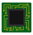 microchip icon isolated vector image
