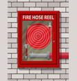 water hose to extinguish the fire in cabinet vector image
