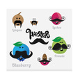 Mustaches HIPSTER vector image