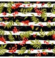 Autumn rowan berry seamless background vector image
