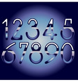 chrome numbers vector image vector image