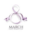 March 8 womens day background vector image