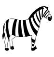 zebra line icon vector image