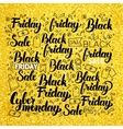 Black Friday Gold Lettering vector image
