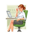 Business woman in armchair vector image