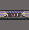girls band singing song on the stage musical vector image